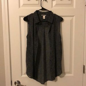 H&M button up tank top